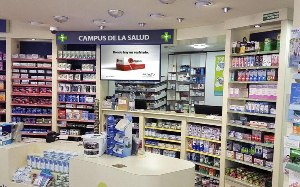 farmacias publiscreen carteleria digital salamanca digital signage