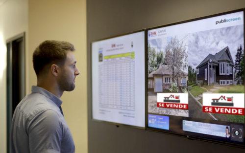 inmobiliarias publiscreen carteleria digital bajo coste salamanca