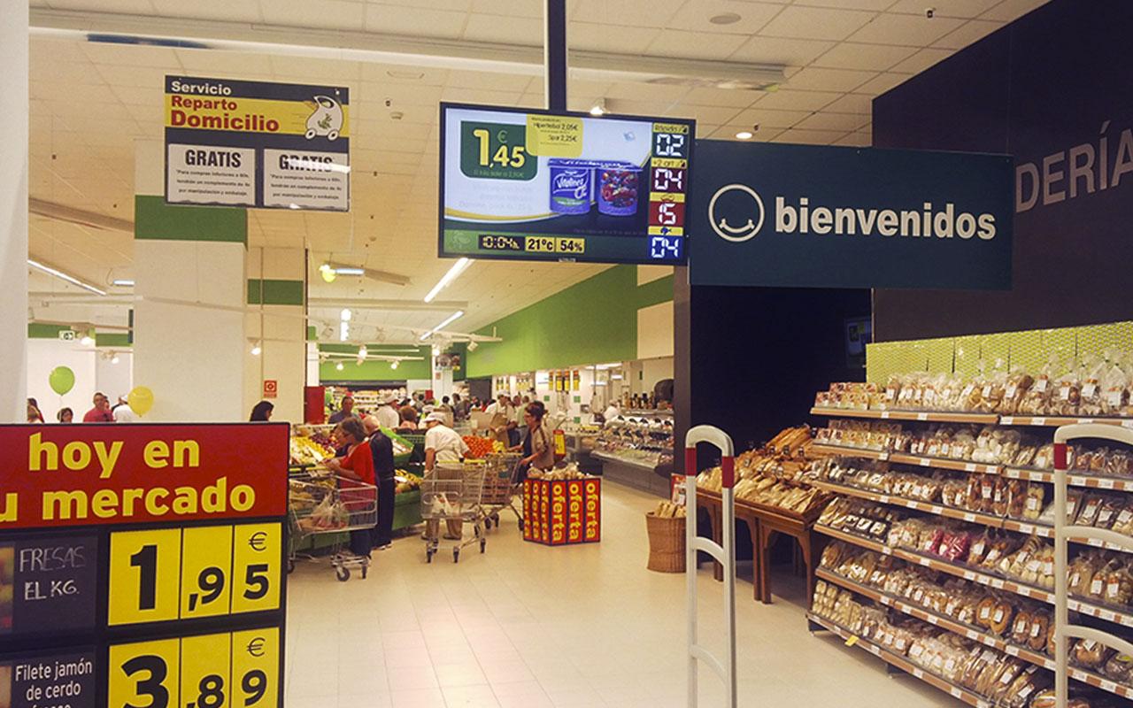 tiendas de alimentación publiscreen carteleria digital bajo coste salamanca